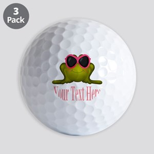 Frog in Pink Sunglasses Custom Golf Ball