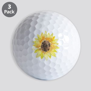 Cute Yellow Sunflower Golf Ball