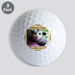 Found Dog Golf Ball
