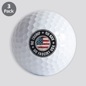 No Trump No KKK No Fascist USA Golf Ball