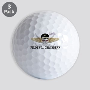 Pilots of the Caribbean Golf Balls