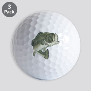 large mouth bass Golf Ball