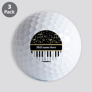 Personalized Piano and musical notes Golf Balls