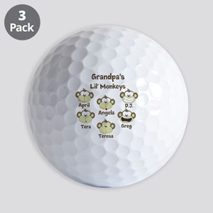Custom kids monkeys Golf Balls