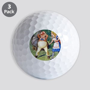Alice and Tweedle Dum Golf Balls