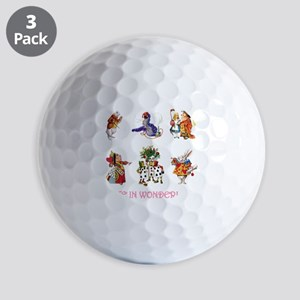 Alice & Friends in Wonderland Golf Balls