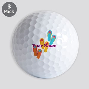 Personalized Flip Flops Golf Ball