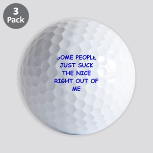 i hate people Golf Ball