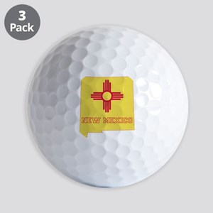 New Mexico Flag Golf Balls