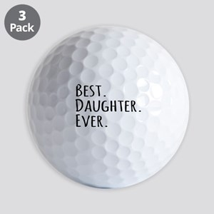 Best Daughter Ever Golf Balls