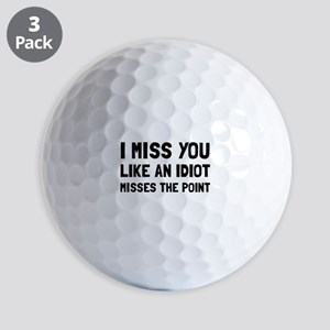 I Miss You Golf Ball