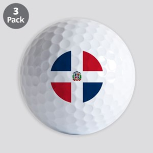 Flag of the Dominican Republic Golf Balls