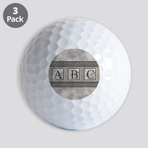 Personalizable Marble Monogram Golf Ball