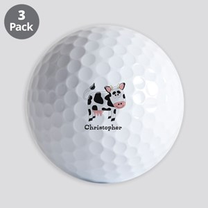 Cow Just Add Name Golf Balls