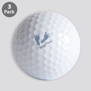 Baby Blue Footprints Golf Ball