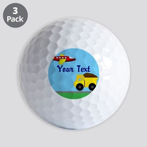 Trucks and Planes Golf Ball