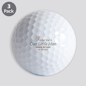 Blue Brown Personalizable Little Man Golf Ball