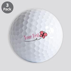 Personalizable Pink Butterfly Golf Ball