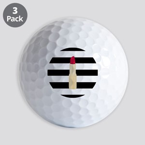 Red Lipstick Strioes Golf Ball