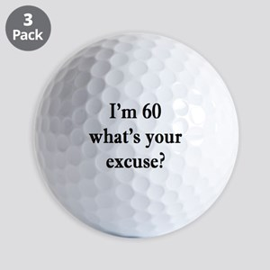 60 your excuse 3 Golf Ball