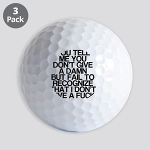 Funny, Vulgar, I Dont Care Golf Balls