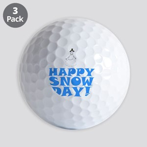 ART HAPPY SNOW DAY Golf Balls