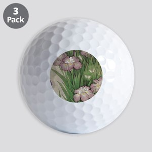 vintage botanical iris flower Golf Balls