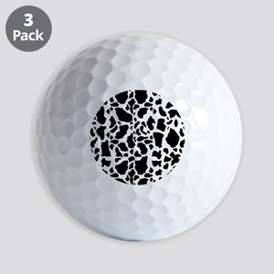 Cow Print Pattern Golf Ball