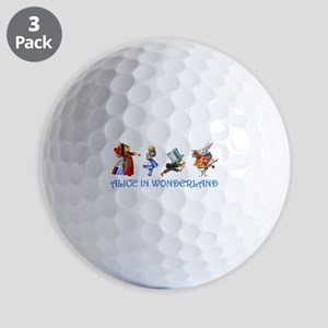 Alice and Her Friends in Wonderland Golf Balls