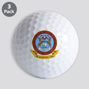 Michigan Seal Golf Balls