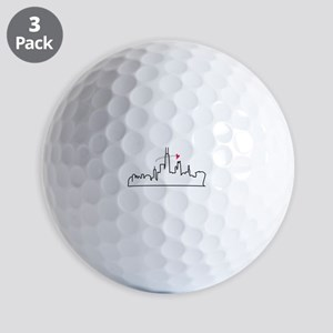 Chicago Skyline Golf Ball