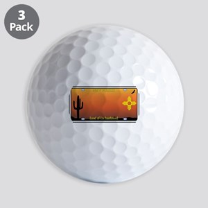 New Mexico License Plate Golf Balls