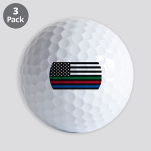 Thin Blue Line Decal - USA Flag - Red, Golf Balls