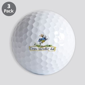 Down the Rabbit Hole Golf Balls