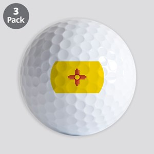 New Mexico Flag Yellow Golf Balls
