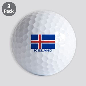 iceland-flag-labeled Golf Balls