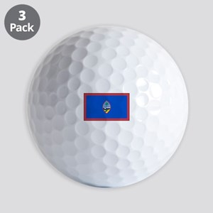Guam Flag Golf Ball