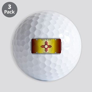 New Mexico Flag License Plate Golf Balls