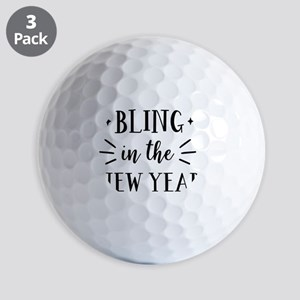 Bling In The New Year Golf Balls