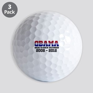 Obama Back to Back Victory Golf Balls