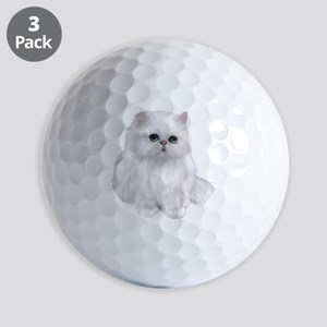 Cute white Persian Cat Golf Balls