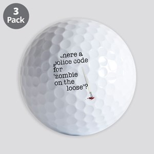 zombie on the loose Golf Balls