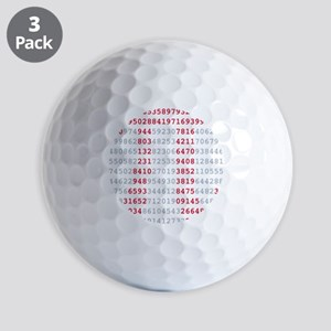 pi_numbers1 Golf Balls