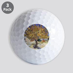 Mulberry Tree by Vincent Van Gogh Golf Balls