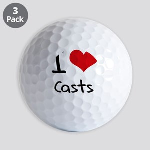 I love Casts Golf Balls