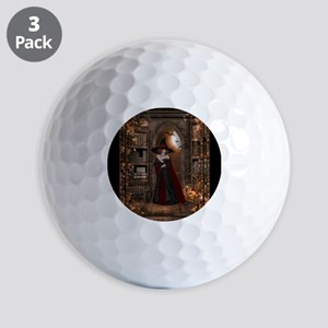 Witch in Library Golf Balls