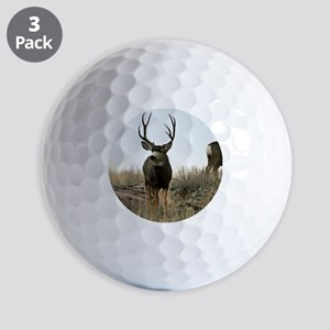 Mule deer buck and does Golf Balls