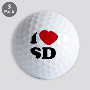 I Love SD Large Golf Balls