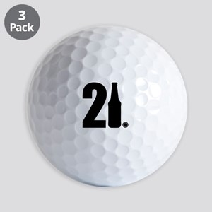 21 beer bottle Golf Balls