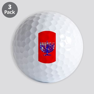 Red Vibrant Menorah Hanukkah 4Jason Golf Balls